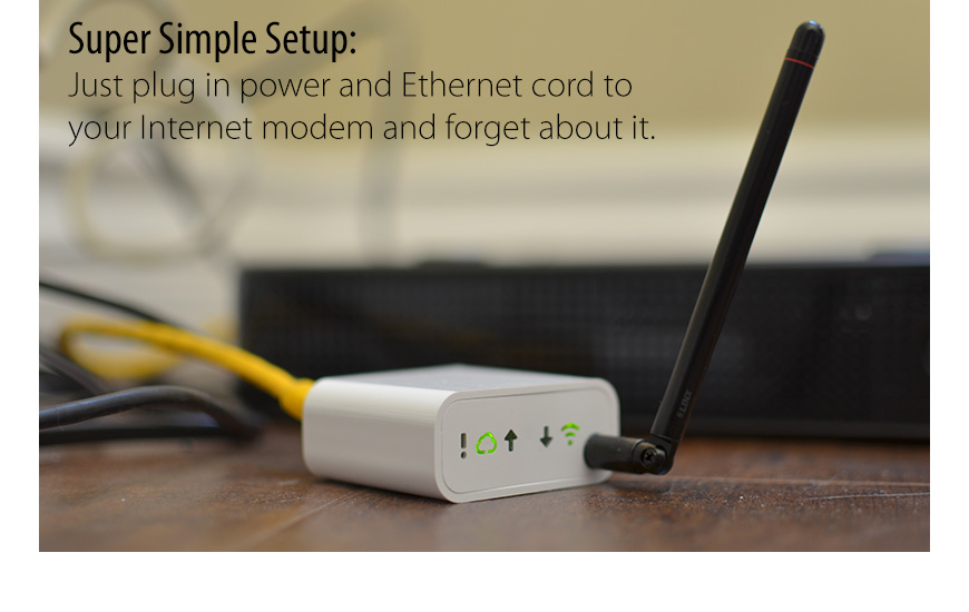 Plug in the Ethernet Tag Manager, to monitor & control hundreds of wireless sensor tags 24/7 anywhere in the world.